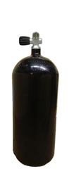 12L/ 230 bar cylinder_204 mm black with valve