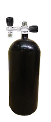 "12L/ 230 bar cylinder_204 mm black with doublevalve ""H"""